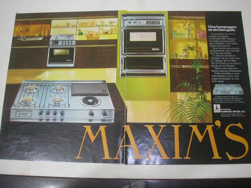 ( l - 290/ g ) propaganda antiga fogão continental maxim's