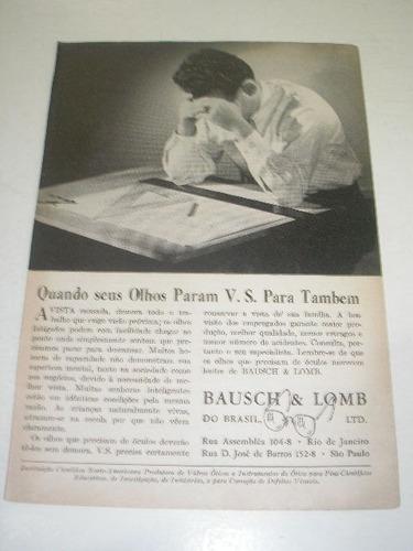 ( l - 290/ p )  propaganda antiga 2 guerra bausch & lomb