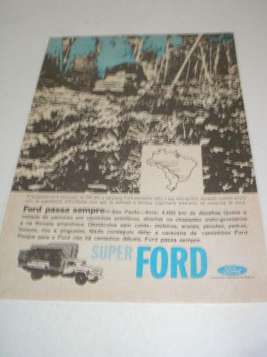 ( l - 290/ p ) propaganda antiga caminhão super ford 1964