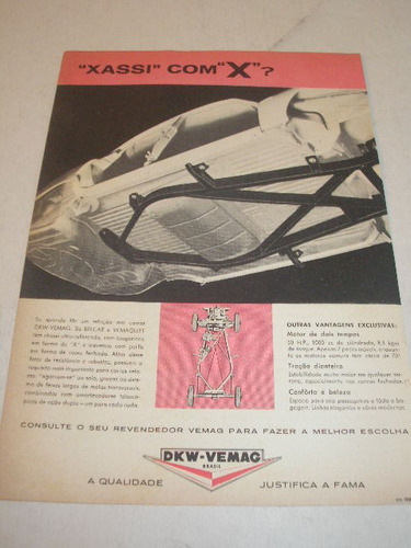 ( l - 290/ p ) propaganda antiga dkw vemag 1963 #1