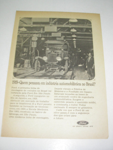 ( l  290/ p ) propaganda antiga ford do brasil