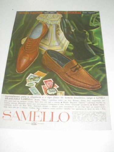 ( l - 290/ p ) propaganda antiga  indústria calçados saméllo