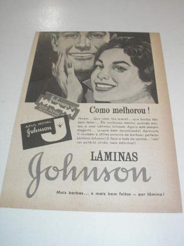 ( l - 290/ p  ) propaganda antiga lâminas barbear johnson