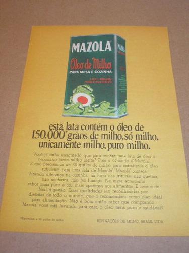 ( l - 290/ p ) propaganda antiga óleo mazola
