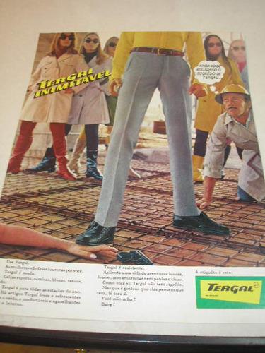 ( l - 290 ) propaganda antiga  calças tergal