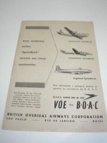( l - 290 ) propaganda antiga emprea aérea b.o.a.c