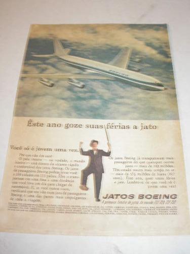 ( l - 290 )  propaganda antiga  jatos boeing # 1