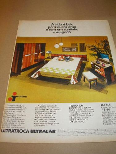 ( l - 290 ) propaganda antiga loja ultralar - móveis jepime
