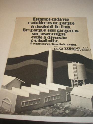 ( l - 290 ) propaganda antiga tecidos nova américa # 3