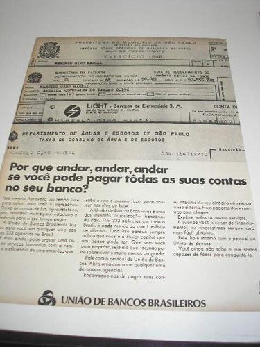 ( l - 290 ) propaganda antiga união de bancos brasileiros