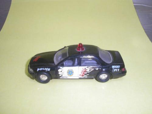 ( l - 90 ) tins toy ( 1:50) carro de polícia americana  dare