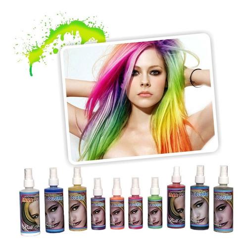 ¡ laca temporal dorada para cabello mechones spray color !!