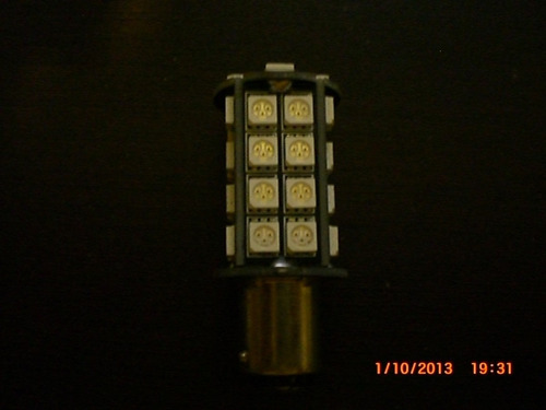 ## lampada 40 leds vermelha 1 ou 2 polos ##