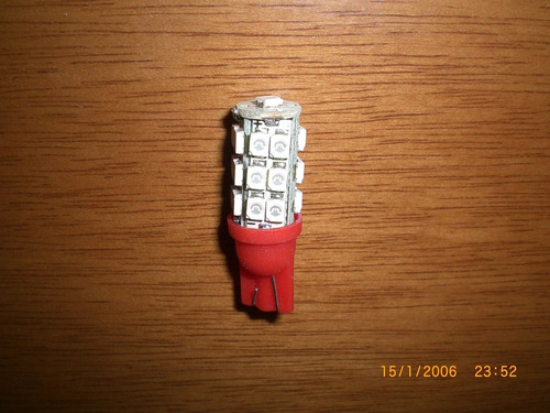 ## lampada pingo 25 leds smd vermelha  ##