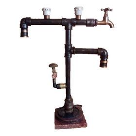 Lampara-velador-steampunk-industrial-retro-vintage