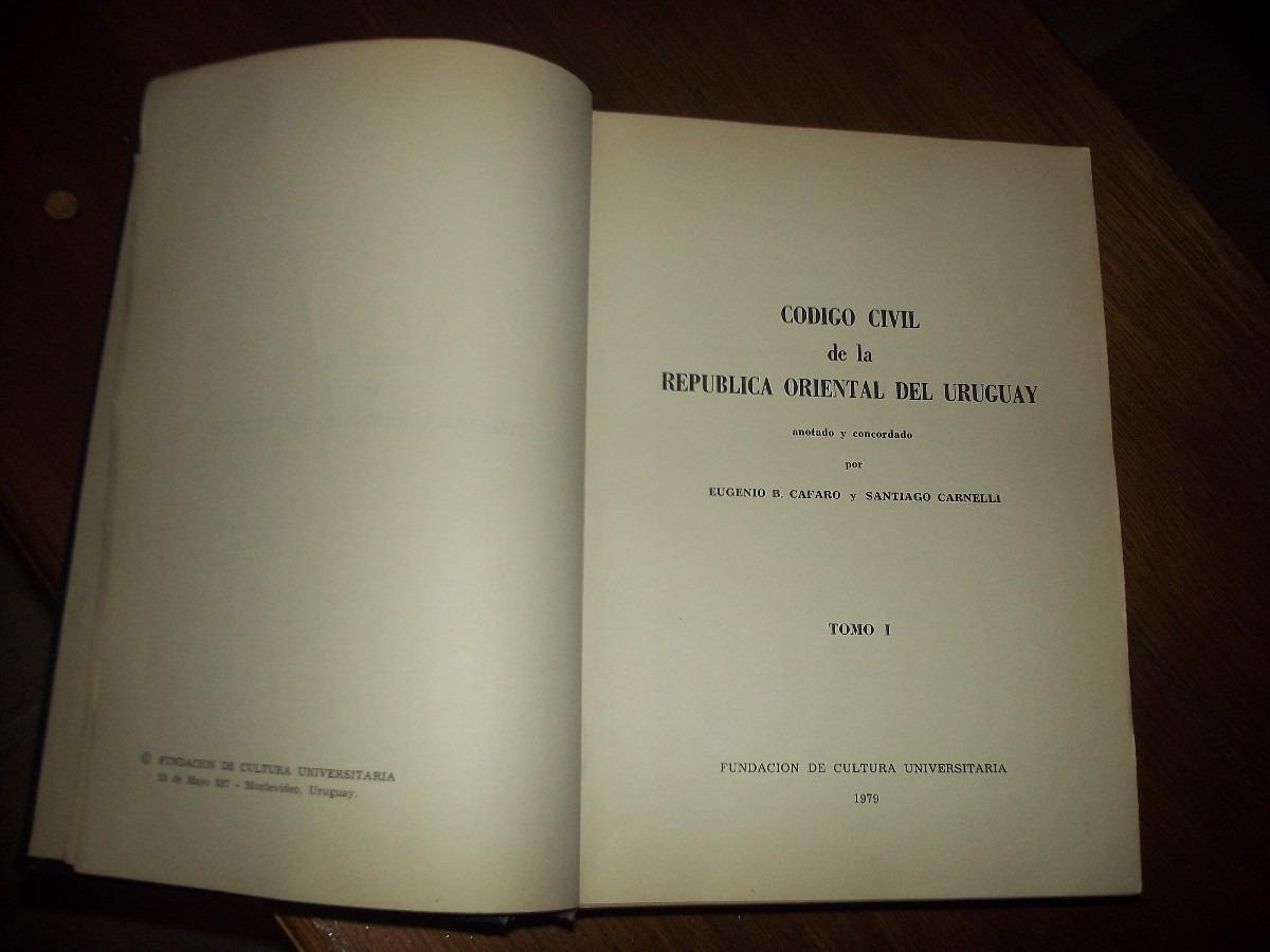 Matrimonio Uruguay Codigo Civil : Libro código civíl república o l uruguay ¡ f e r t a