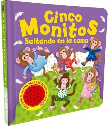 ** libro con sonido ** cinco monitos saltando .. cancion
