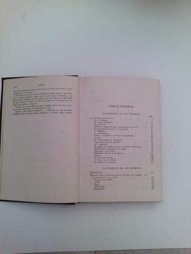 +++ * libro de etiqueta. empastado.