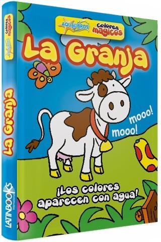 ** libro de goma ** cuando se moja se colorea la granja