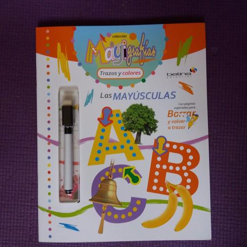 * libro pizarra con marcador * las mayuscula escribe y borra