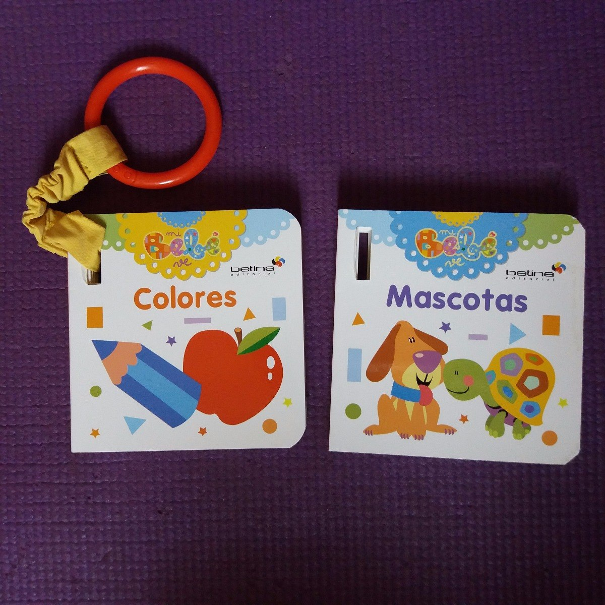 Libros Para Bebe ** Colores Mascotas Con Anillo P Llevar - $ 450,00 ...