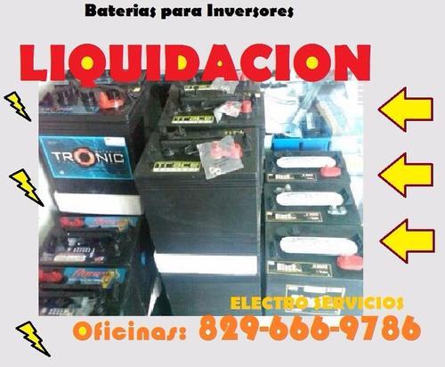 * liquidacion total - baterias de inversore -trojan t-105 **