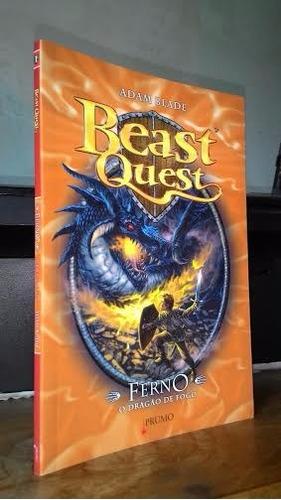 ** livro: ferno, o dragão de fogo - beast quest / adam blade