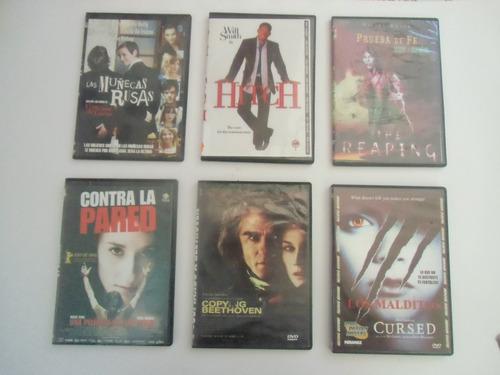 * lote cinco.  seis videos en dvd para elegir entre 500