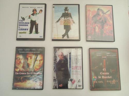 * lote doce.  seis videos en dvd para elegir entre 500