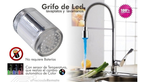 ¡ luz de led multicolor grifo cocina lavaplatos lavamanos !!