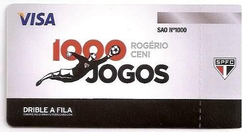 +m+ ingresso jogo 1000 rogério ceni sao paulo x atlético mg