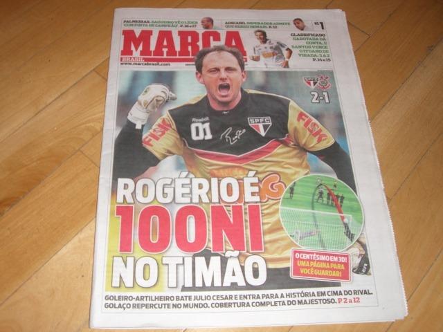 bb360709c7 m+ Lote Jornal Lance Marca Rogério Ceni 100 Gols São Paulo - R  40 ...