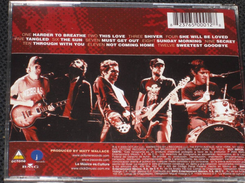 * maroon 5 * - songs about jane - c d 12 tracks