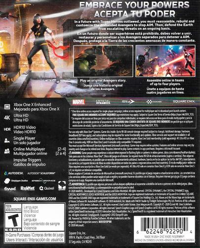 ..:: marvels avengers ::.. xbox one en game center