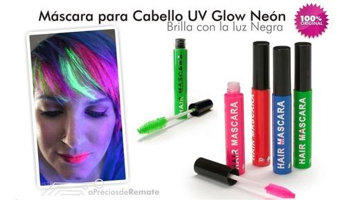 ¡ máscara d cabello uv glow  neón barba mechas brilla neon !