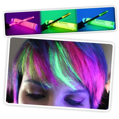 ¡ máscara de cabello uv glow amllo neón brilla luz negra !!