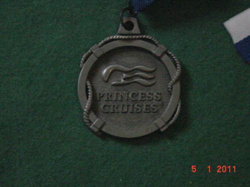 * medalha do transatlântico princess cruises *