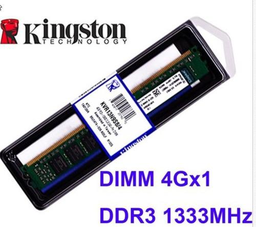 +memoria kingston ddr3 4gb 1333mhz pc3-10600 kvr13n9s8/4