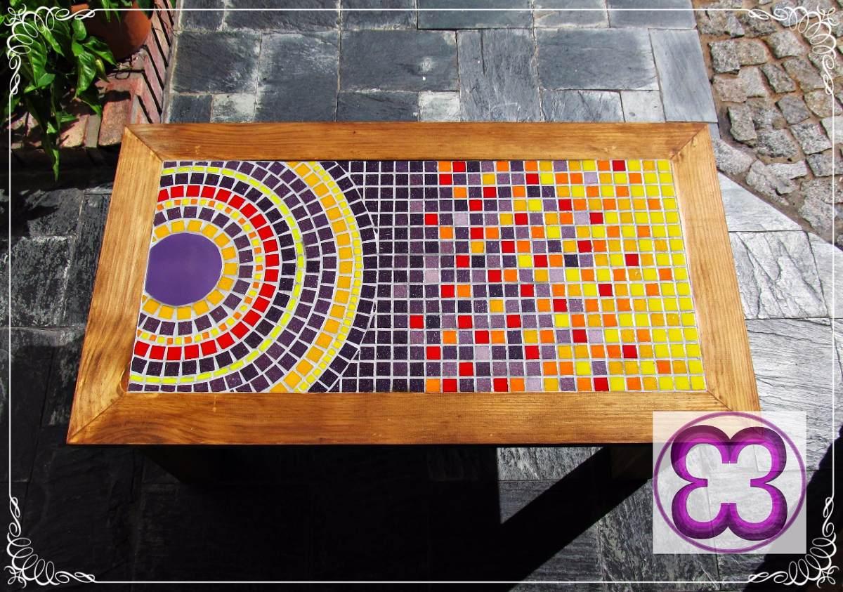 ººº Mesa Ratona Madera Y Mosaico - Venecitas ººº - $ 2.950,00 en ...