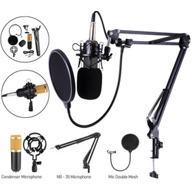Microfono Condensador,brazo Tijera Y Filtro Antipo Oferta