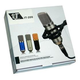 Microfono Condenser Est Grabacion Podcast + Araña Y Cables