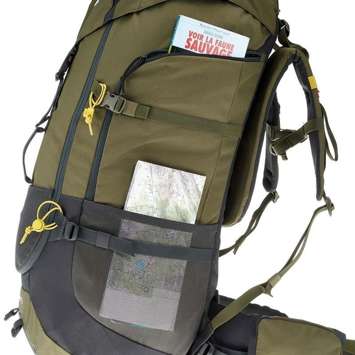 427e6602f mochila trekking quechua forclaz 70 litros verde. Cargando zoom.