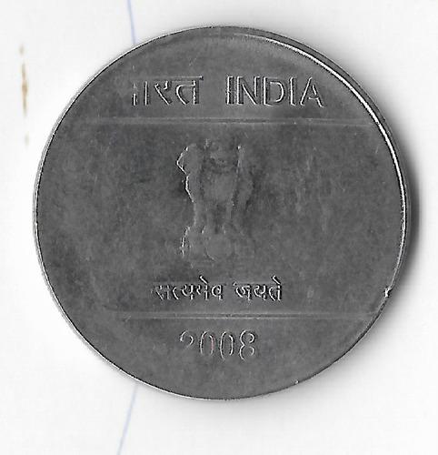 !!! moneda india 2008 1 rupia ( bien hecho ) imperdible !!!