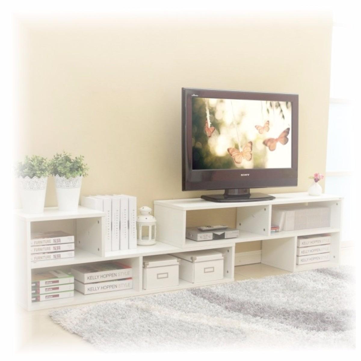 Mueble modular rack tv hasta mts multimueble living for Mueble modular