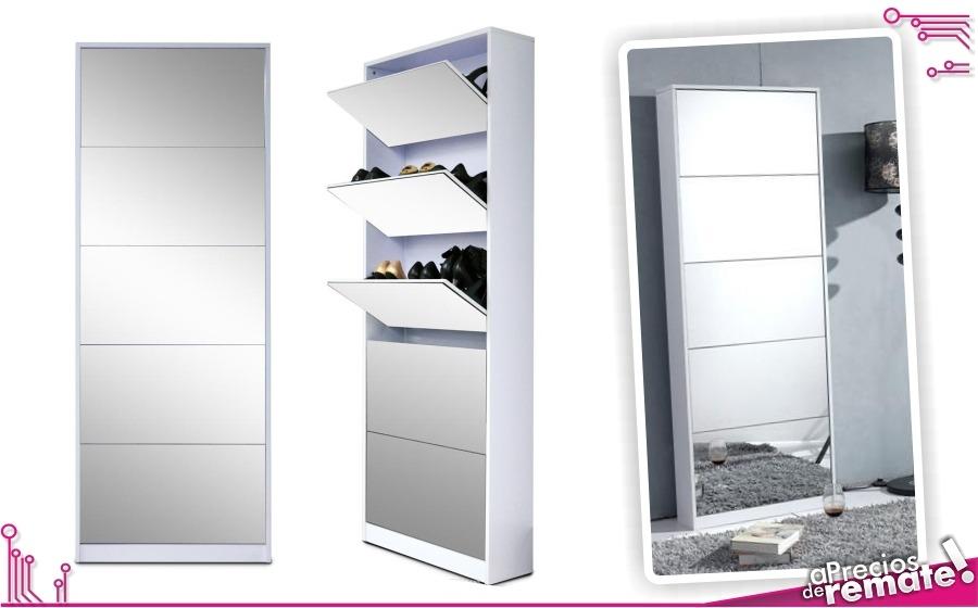Mueble zapatero espejo capacidad 20 pares zapatos for Mueble zapatero con espejo