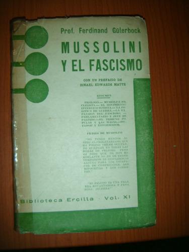 * mussolini y el fascismo -    prof. ferdinand guterbock