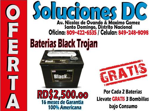 * o f e r t o n * baterias para/de inversores (trojan black)