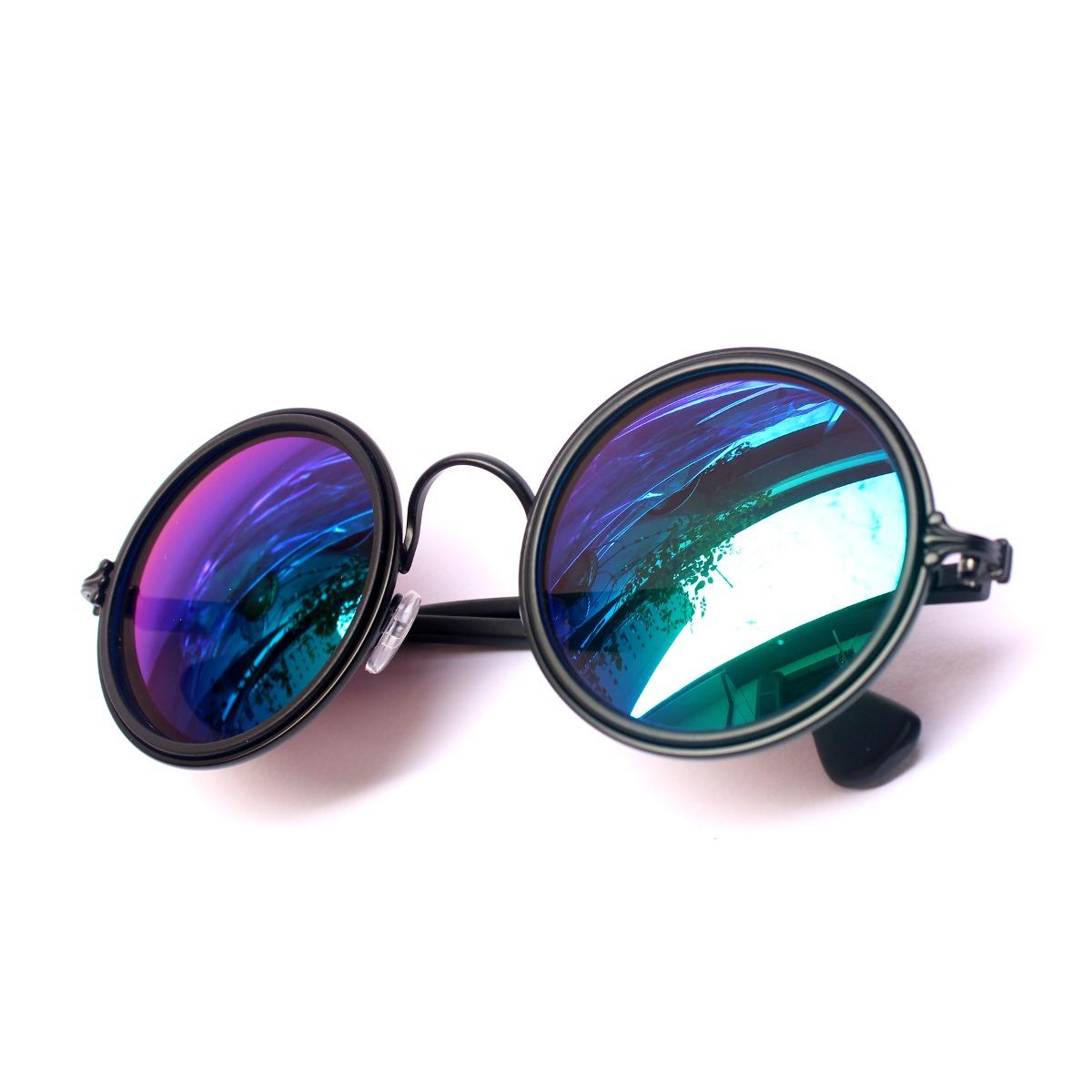 dd1b38d673cbf óculos sol retrô espelhado redondo hippie + brinde grátis¤. Carregando zoom.