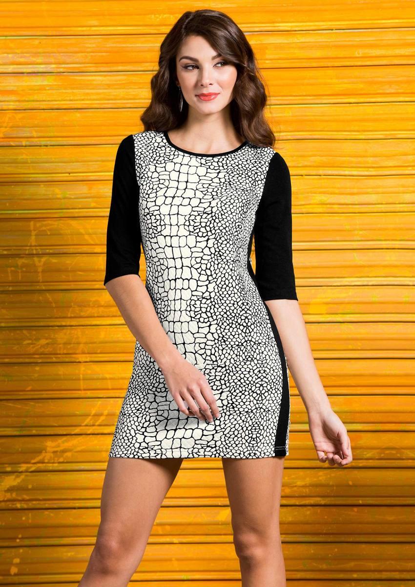 dbf0429324 Oferta Elegante Vestido Andrea Blanco Y Negro 1166910 -   399.00 en ...
