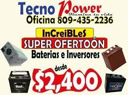 - oferta especial - baterias de inversores . llevate gratis-